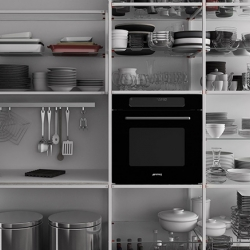 Meccanica is a minimalist system design created and engineered by Valcucine. The system is unique in a multitude of ways. Firstly, Meccancia's framework is designed to be easily dismantled for easy transportation or recycling.