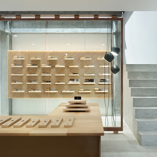 Tadafusa Factory Showroom is a minimalist space located in Nigata, Japan, designed by Yusuke Seki.