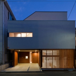 House in Setagaya-ku is a minimal home located in Tokyo, Japan, designed by Kashiwagi Sui Associates. The home sits atop a 116.96 sq m site, and constructed mainly of wood.