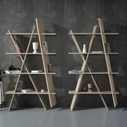XI Book Shelf is a minimalist design created by Portugal-based designer Gonçalo Campos. The design of the bookshelf was centered around ease of assembly by removing the use of screws or fixtures.