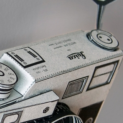 If you can't have true Leica M3, build it out of paper. Design by Matthew Nicholson.