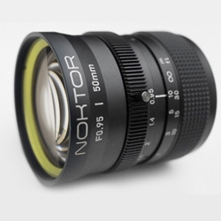 Noktor produced a lens with a maximum aperture f0.9! great for night shots and at this aperture the depth of field is hair thin! Only for 4/3 mounts now...