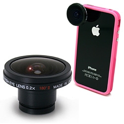 Oooh on more fun fisheye mini lenses ~ Gizmon Fisheye Lens 2 for iPhone and Smartphones ~ attaches with a ring magnet.