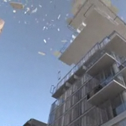 an amazing video of Herzog & de Meuron's 56 Leonard literally falling into place.