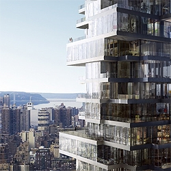 Herzog & de Meuron began construction of a 57-story residential luxury tower in New York. Another skyscraper for the Manhattan Skyline.  It will also feature an Anish Kapoor sculpture on street level.