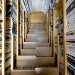 a walk in the books up in the sky 