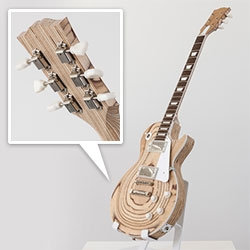 Less Paul (2012) By Andrew Lewicki  - baltic birch plywood, CDX plywood, hardboard, MDF, polystyrene, ABS, steel, various electric guitar parts
