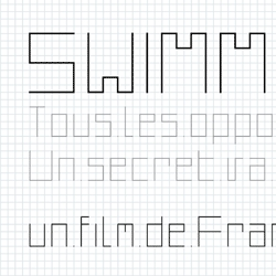The wonderful lettering used in the complex Les Bains des Docks by Jean Nouvel is now a font available for download.