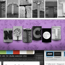 Spell out a name, business, or words of inspiration with our letter photo art.