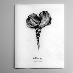 Beautiful illustrations by Erika Altosaar in an unbound portfolio, L'Étranger.