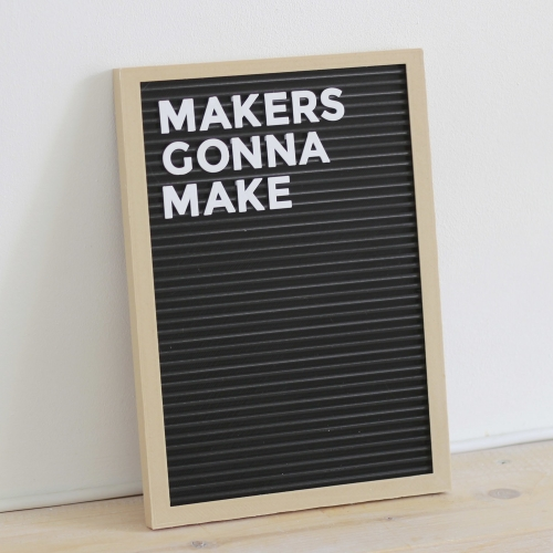 3D print your own letter board thanks to Spanish designer Agustin Flowalistik.