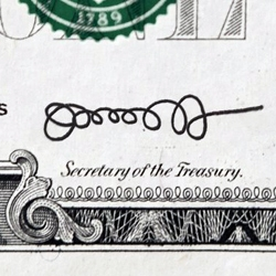 Jack Lew, current White House Chief of Staff, will be nominated by President Obama to be the next Treasury Secretary. This could be the signature on future dollar bills...