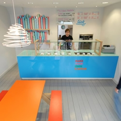 Recently awarded 'most likely to succeed brand' by The Sunday Times, Brighton's Lick have a simple message, great product (frozen yoghurt and ice cream) and lovable chic aesthetic....