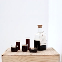 Take a look at this beautifully formed decanter and set of glasses by London based designer Tomás Alonso.