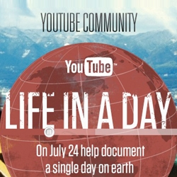 Life in a day its a global experiment to create a user-generated featured film, shot in a single day all over the world. By Ridley Scott and Kevin Macdonald