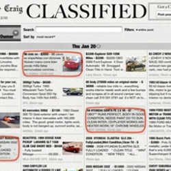 Lifelike Craig -  iPad app that makes Craigslist look more like a newspaper classifieds section.