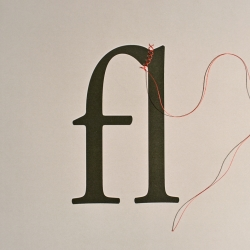 How to Create a Ligature: String, photo/design by David Schwen.