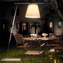 Outdoor Lamp Shade - floor lampshade Miami by Antonangeli ~ fascinating mix of outdoor lighting with an indoor feel...