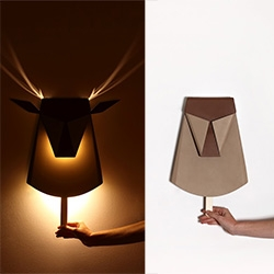 Pop Up lighting by Chen Bikovski inspired by pop-up books that by pulling a tab you will get a 3D object