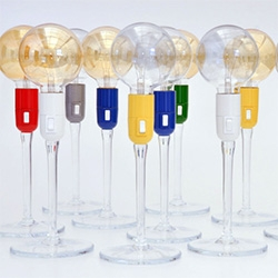 People Lamp by  Pedro Mendes for So What? Portugal. Fun wine glass stemmed lighting!