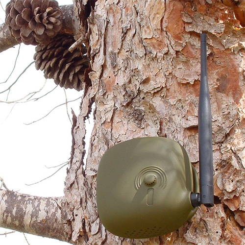 Senticnel Tree Alarm - designed to prevent forest fires from spreading. Designed by Eli-Gutierrez Studio for Ntforest, it's a tree mounted alarm that detects the early signs of a forest fire.