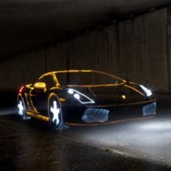 Mark Brown and Marc Cameron painted supercars with light bulbs. Presented the last set light graffiti photos.