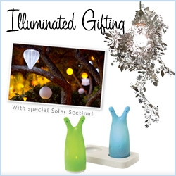 Gift Guide! This one is all about lighting! There's something so magical about the way light can transform a room/environment, and here are some that make great gifts! Also special Solar section!