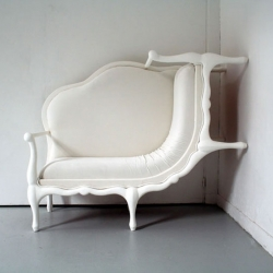 Canape by Lila Jang, one of the furniture presented in a exhibition called Parcours Saint-Germain in Paris