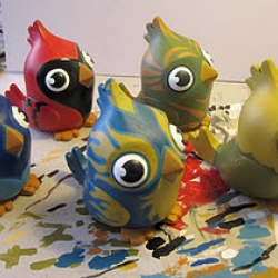 Odd Fauna, maker of Beast Sculpts, is making a super adorable toy series for Villain's new app, Lil' Birds!