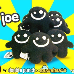 double punch X shawnimals team up to make - lil joe plush and tees!