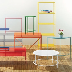 Room & Board's slim powder coated steel line now comes in a rainbow of colors!