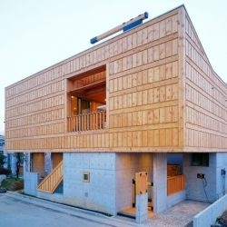 Korean architects IROJE KHM have designed the Lim Geo Dang house in Goyang, Korea.
