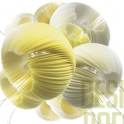 Beautiful paper light sculptures Moonjelly from Limpalux.
