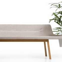 This bench designed by Leif.designpark for De La Espada, incorporates a planter into the seating area.