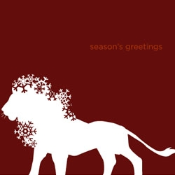 Graphic designer Stephen Fowler creates at collection of zoo inspired holiday cards - gemini card co.