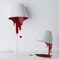 Liquid Lamp by Kouichi Okamoto depicts dripping paint.