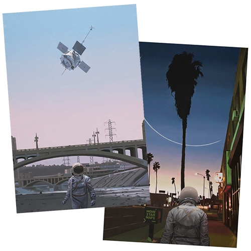 "Thinkspace Gallery releases two very LA prints from Scott Listfield ""Map of the Stars"" and ""The River"""