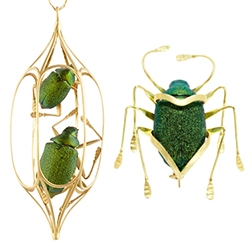 Lito Karakostanoglou's Scarab Jewelry Collection is an exquisite mix of nature staged within gold.