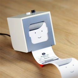 Released by Bergcloud, the new Little Printer prints your digital life. The printer uses your smartphone's subscriptions to create a personalized, timely, beautiful mini-newspaper.