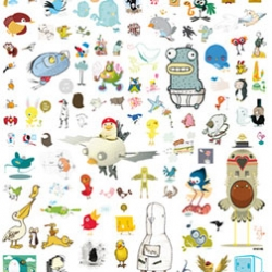 Become a bird lover with this great poster with a ton of birds by a bunch of artists.