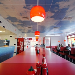 The redesign of the graphics and interior of the UK's Little Chef chain of roadside restaurants.