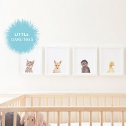 Little Darlings print series from Sharon Montrose featuring gorgeous baby animals.