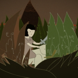 a short animation by animator rinee shah about a girl traveling through an evil forest with her pet robot polar bear.