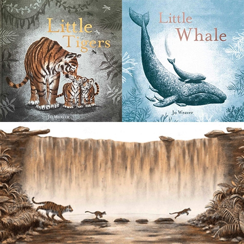 Jo Weaver - beautiful illustrations for her children's picture books: Little Tigers, Little Whale, and Little One.
