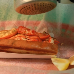 Charming stop animation film of a Lobster Roll that makes itself!