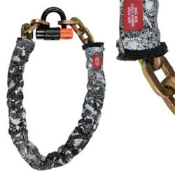 New Jack Spade bike chain looks great. You can buy with the lock or just the sleeve. Biking is back! Yeah!