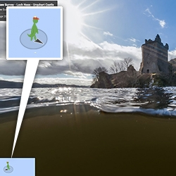 Google Maps now lets you Street View your way into Loch Ness to look for Nessie!