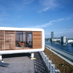 The Loft Cube presents rooftop living for the adventurous.  The entire body of the Loft Cube can be customized to the buyer's needs and it's built by you. Get your toolbelt ready!