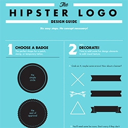 A handy guide for creating a hipster logo.