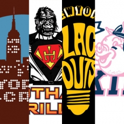 Vote for your favorite logo for a  fictional NYC football teams, part of LVHRD's BIFOLD SPORT event.  New York Blackouts are pretty sweet.
